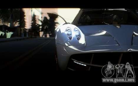 Pagani Huayra 2013 para GTA San Andreas vista posterior izquierda