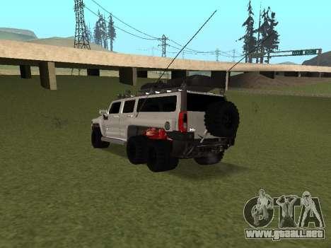 Hummer H3 6x6 para GTA San Andreas vista posterior izquierda