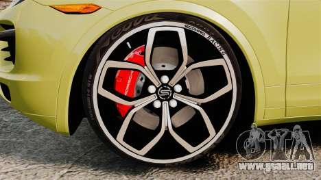Porsche Cayenne 2012 SR para GTA 4 vista hacia atrás