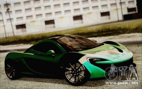 McLaren P1 2014 v2 para la visión correcta GTA San Andreas