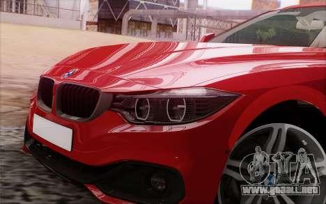 BMW 435i para GTA San Andreas vista hacia atrás