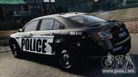 Ford Taurus Police Interceptor 2010 para GTA 4 left