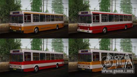 LIAZ piel 5256.00 3-Pack para GTA San Andreas