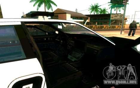 Police Buffalo GTA V para GTA San Andreas vista hacia atrás