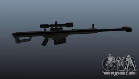 Rifle de francotirador Barrett M82A1 para GTA 4 tercera pantalla