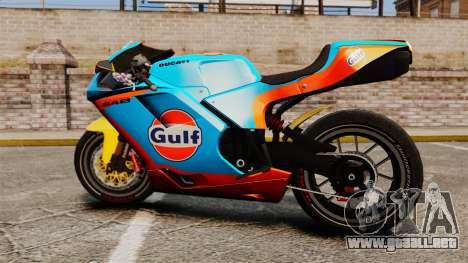 Ducati 848 Gulf para GTA 4 visión correcta