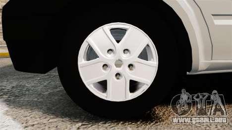 Ford Transit 2013 para GTA 4 vista hacia atrás