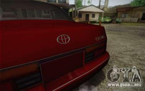 Toyota Crown Royal saloon g 3.0 para GTA San Andreas vista hacia atrás