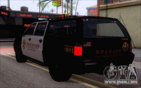 Un jeep de la policía de GTA V para GTA San Andreas left