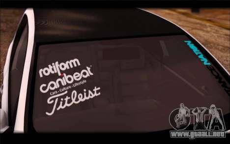 Volkswagen Golf MK5 Lowstance para GTA San Andreas vista posterior izquierda