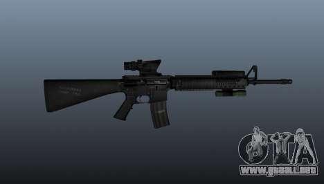 Rifle de asalto M16A4 AEG para GTA 4 tercera pantalla