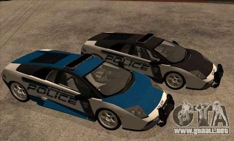 Lamborghini Murciélago policía 2005 para visión interna GTA San Andreas