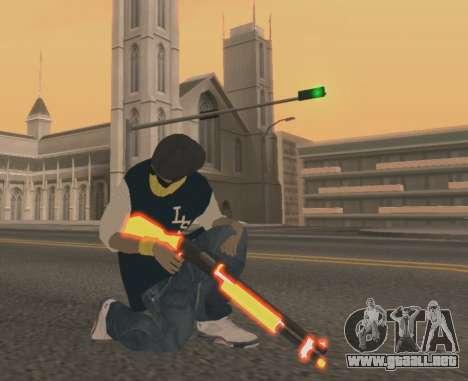 Vagos Gun Pack para GTA San Andreas tercera pantalla