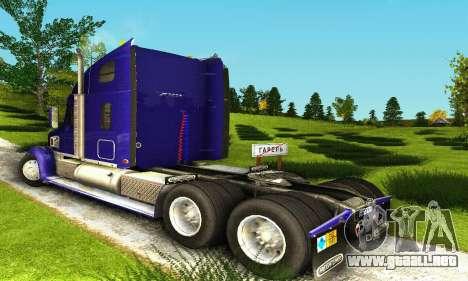 Freightliner Coronado para la visión correcta GTA San Andreas