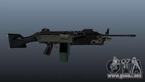 Ametralladora actualizada de ligera M249 para GTA 4 tercera pantalla