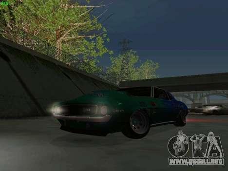 Chevrolet Camaro z28 Falken edition para vista lateral GTA San Andreas
