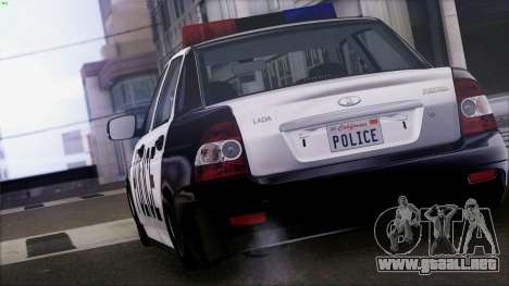 Lada Priora para GTA San Andreas left