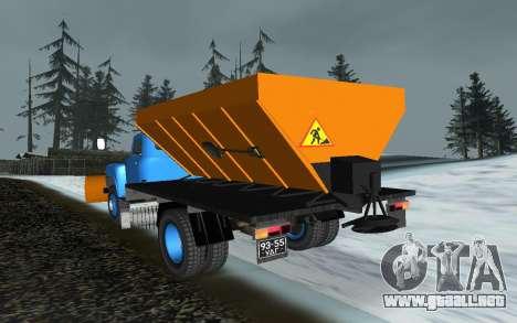 53 GAS soplador de nieve para GTA San Andreas vista posterior izquierda
