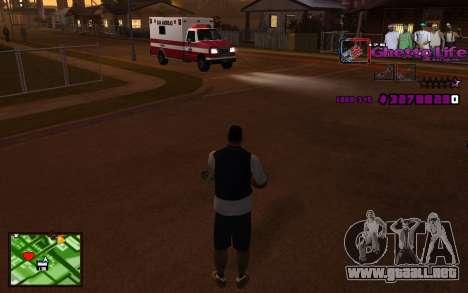 Con la vida de HUD-Getto para GTA San Andreas segunda pantalla