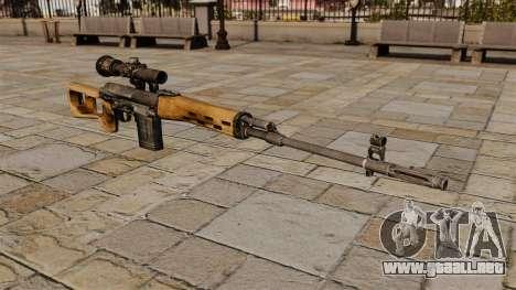 Rifle de francotirador Dragunov para GTA 4