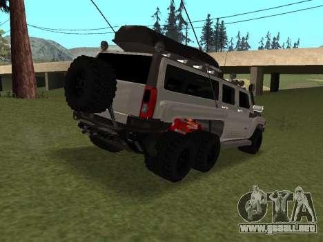 Hummer H3 6x6 para la visión correcta GTA San Andreas