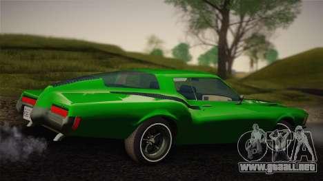 Buick Riviera 1972 Carbine Version para GTA San Andreas vista posterior izquierda