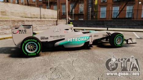 Mercedes AMG F1 W04 v4 para GTA 4 left