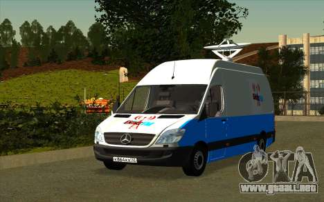 Mercedes Sprinter Entire FM para GTA San Andreas left