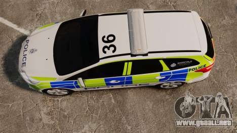 Ford Focus Estate Norfolk Constabulary [ELS] para GTA 4 visión correcta