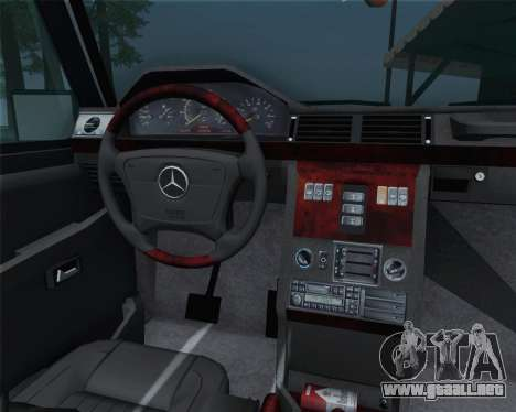 Mercedes-Benz G500 1999 Short para visión interna GTA San Andreas