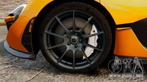 McLaren P1 2014 [EPM] para GTA 4 vista hacia atrás