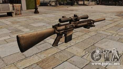 El rifle de sniper M110 para GTA 4 segundos de pantalla
