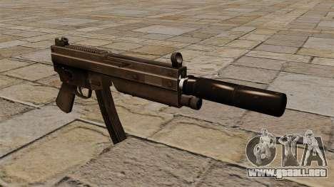 La metralleta MP5 con silenciador para GTA 4