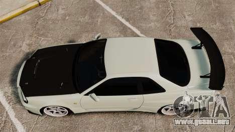 Nissan Skyline GT-R V-Spec II Mk.X [R34] para GTA 4 visión correcta
