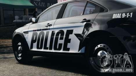 Ford Taurus Police Interceptor 2010 para GTA 4 vista interior