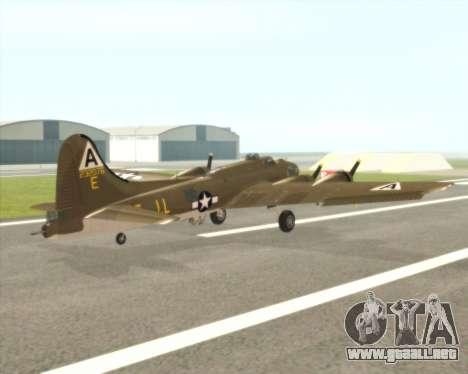 B-17G para la visión correcta GTA San Andreas