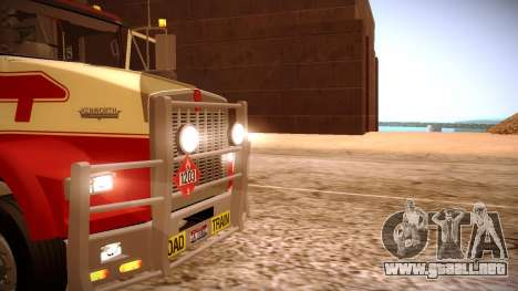 Kenworth RoadTrain T800 para la vista superior GTA San Andreas