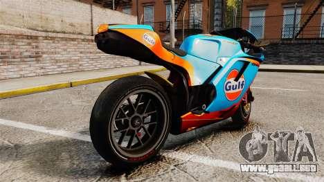 Ducati 848 Gulf para GTA 4 left