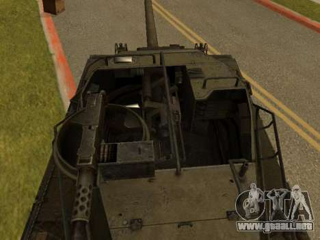 M18-Hellcat para GTA San Andreas vista hacia atrás