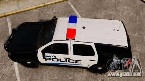 Chevrolet Tahoe Police [ELS] para GTA 4 visión correcta
