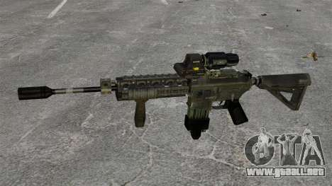 M4 Carbine híbrido alcance para GTA 4 tercera pantalla