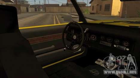 Sabre HD from GTA 3 para GTA San Andreas vista hacia atrás