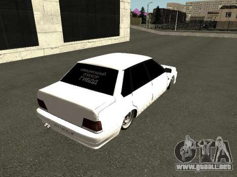 VAZ 2115 para GTA San Andreas vista hacia atrás