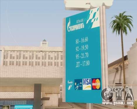 AZS Gazprom Neft para GTA San Andreas segunda pantalla