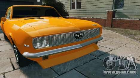 Chevrolet Camaro SS 1967 para GTA 4 visión correcta