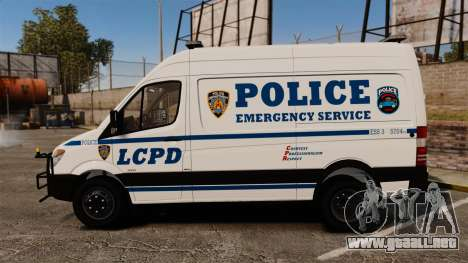 Mercedes-Benz Sprinter 3500 Emergency Response para GTA 4 left