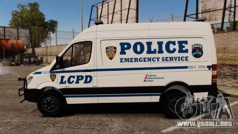 Mercedes-Benz Sprinter 3500 Emergency Response para GTA 4 left