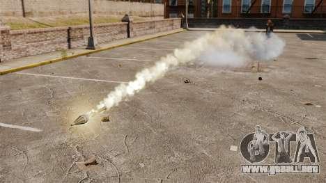 Disparos de cohetes para GTA 4 segundos de pantalla