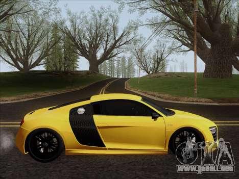 Audi R8 V10 Plus para GTA San Andreas vista posterior izquierda