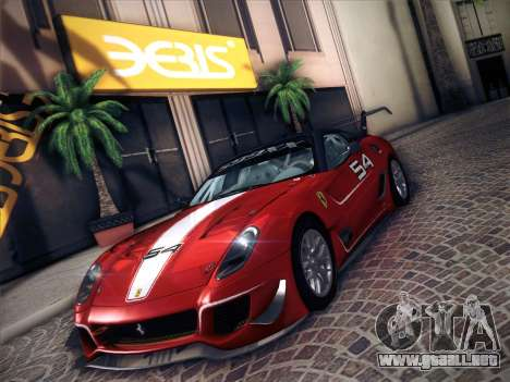 Ferrari 599XX 2012 para GTA San Andreas vista hacia atrás
